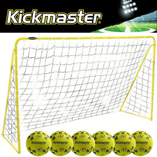 """NEW 2017"" KICKMASTER ULTIMATE 8FT PREMIER STEEL FRAME BACK GARDEN FOOTBALL GOAL"
