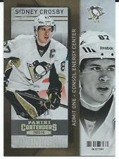 2013-14 Panini Contenders SIDNEY CROSBY #33 Admit one TD Energy Center 055/100