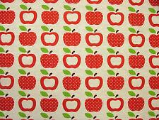 3 metri di mele rosse tessuto-Multi uso Curtain Craft Quilting Tende Cucina