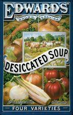 Blechschild Edwards Desiccated Soup Suppe Gemüsesuppe Schild 20x30 Veggie