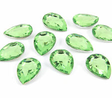 10 x Verde Mela Pera STRASS Chaton Cabochons 18mm Cristalli Decoden