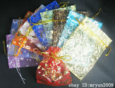 FREE 50Pcs Organza Jewellery Xmas Holidays Cards Party Supply Gift Wrap Bags @