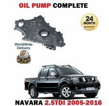 FOR NISSAN NAVARA D40 2.5TD 5/2005-2016 NEW OIL PUMP COMPLETE *OE QUALITY*