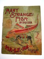 "Vintage 1903 Advertising Booklet - ""Many Strange Fish in the Sea""  Malena Co. *"