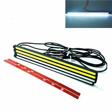 2Pcs 20cm 15W DRL LED Daytime Running Lamp Waterproof Ultra Slim Auto COB Light