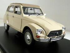 Atlas 1/24 Scale Citroen Dyane 6 1978 Beige + Display Case Diecast model car