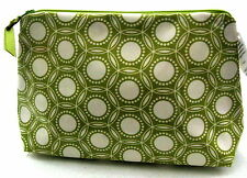 OBJECTS of DESIRE Lime Green Circles LG Cosmetic Makeup Bag NWT Made in the USA