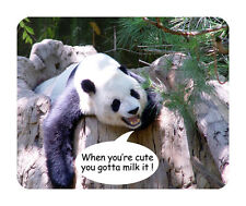 Cute Panda Mouse Mat - Wildlife, When you're cute, you gotta milk it!