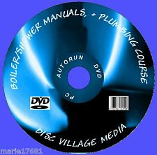 1700+ GAS BOILER SERVICE & DATA MANUALS HEATING /PLUMBING & SHOWERS ETC PC DVD