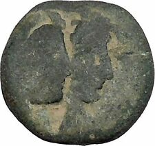 ARETAS IV & SHAQUILAT Arab Kingdom of Nabataea PETRA Ancient Greek Coin i47384