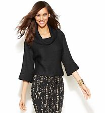 INC International Concepts Cropped Cowl-Neck Women's Sweater, Size L