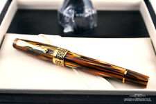 Montegrappa 18k Yellow-Gold Turtle Brown Extra 1930 Fountain Pen - Medium Nib!