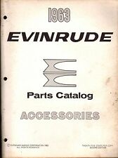 1963 EVINRUDE OUTBOARD MOTOR ACCESSORIES PARTS MANUAL USED  (961)