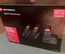 NEW Motorola L601M DECT 6.0 Cordless Landline 3 Telephone Handset with Caller ID