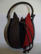 Sac à main bylin tulipe coloré Linda van la Poel sac Cadeau cuir véritable