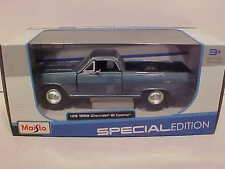 1965 Chevy El Camino Pick-up Truck Die-cast Car 1:25 by Maisto 8 inch Blue