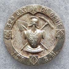 INSIGNE DU GENIE - 32° Bataillon du Génie - 1° Cie de Sapeurs Mineurs - retirage