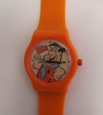 Cartoon Watch Fred Feuerstein * Kinder Quarz Uhr * Orange * Motiv Fred * Neu