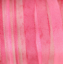 "Variegated Silk Ribbon for Embroidery 4mm (1/8"") - 3 meters Hot Fuchsia"
