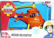 Fireman Sam Helicopter Rescue Helicopter with Rescue Sling and Rotating Blades