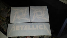 METALLICA STAR HEAVY METAL Rock Band Decals Sticker Vinyl Bumper SET of 3