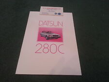 January 1981 DATSUN 280C SALOON & ESTATE - UK 16pg COLOUR BROCHURE + CARD Cedric