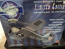 Stinson Reliant U.S. Coast Guard Limited Edition Collectible Coin Bank New