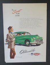Original Print Ad 1947 OLDSMOBILE Hydra-Matic Drive Olds GM Vintage Art