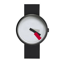 "Projects Watches ""Suprematism Red"" Acciaio Nero Bianco Silicone Unisex Orologio"