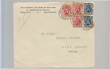 1962 BELGIUM letter to WITZERLAND-PAIR c.50+3 c.25-f454