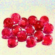 Lot of 10 Natural Noble Spinel 2mm Round faceted Brilliant RUBY RED Gem Stones