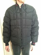 Mens Walls blizzard pruf Southwestern aztec tribal Puffer Jacket Black coat L XL