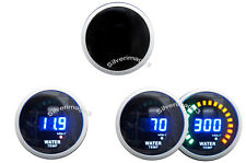 "2"" 52mm Water Temperature Temp / Volt Blue Digital Led Combo Gauge Smoke Face"
