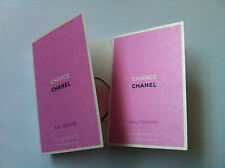2 x Authentic Chanel CHANCE Tendre Eau de Toilette Perfume EDT Samples Lot