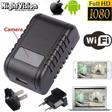 Mini WIFI HD 1080P SPY DVR Hidden Camera Adapter Plug IR Lamp Video Recorder Cam