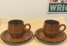 Two Retro Cup And Saucers Apollo Stone By Atelier Sone Imperial 1007 Japan