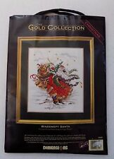 """Dimensions-Gold Collection """"Windswept Santa""""- Cross Stitch Kit-Abrams-8449-New"""