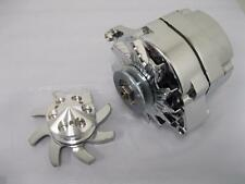 120 AMP Chrome 1 or 3 Wire Alternator GM Chevy Small Big Block w Aluminum Pulley