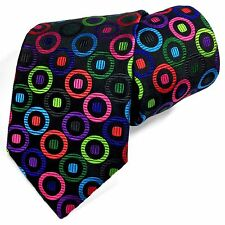New Duchamp London 100% Silk Men's Tie Extremely Rare Multi-color Circles Dots