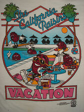 Vintage 1980s CALIFORNIA RAISINS T SHIRT On Vacation BUTTER SOFT Tourist Large