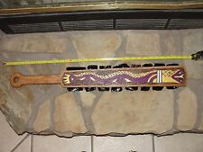 Macuahuitl War Club AZTEC MAYAN Artifact Replica Flint Knapped Obsidian Sword