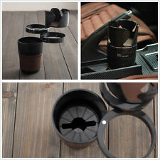 Portable Black 5in1 Car SUV Interior Cup Holder Storage Mobile Phone Bracket ABS