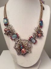 Betsey Johnson Spider Lux Collection Statement Necklace $125 Holiday Sale S-4