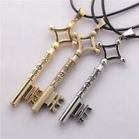 New Fashion Attack on Titan Key Necklace Anime Pendant Chains Collectables Gift