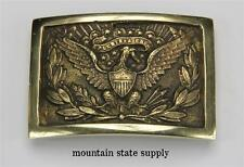 U.S. Civil War North Union Army Officer's 1851 Hardee Eagle Brass Belt Buckle