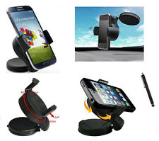 WindScreen Suction Mount Car Phone Holder for LG L70 L80 L90 & Navigation Stylus