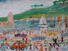 Simeon Stafford Original Oil Painting - St Ives Cornwall (Modern British Art)