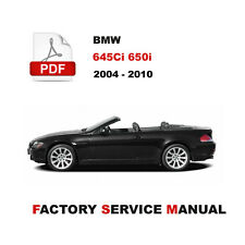 BMW E63 E64 2004 - 2010 645Ci 650i SERVICE REPAIR SHOP MANUAL + WIRING DIAGRAM