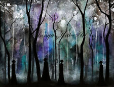 Haunted Forest - Dark Shadow Gothic Fantasy Painting - Harry Potter Gift Art