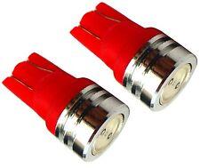 2x ampoule T10 W5W 12V LED rouge veilleuses  éclairage intérieur plafonnier